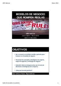 MODELOS DE NEGOCIO QUE ROMPEN REGLAS
