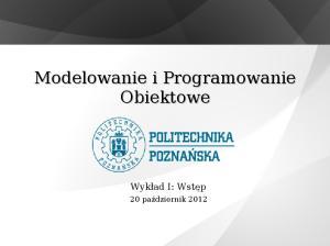 Modelowanie i Programowanie Obiektowe
