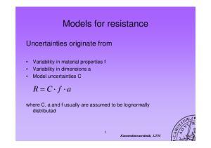 Models for resistance