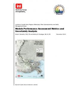 Models Performance Assessment Metrics and Uncertainty Analysis