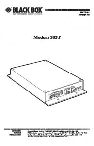 Modem 202T MAY 2001 MD845A-R2 CUSTOMER SUPPORT INFORMATION