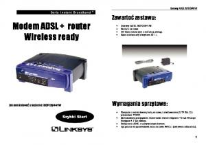Modem ADSL + router Wireless ready