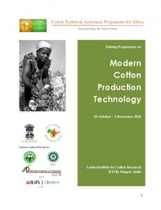 Modern Cotton Production Technology