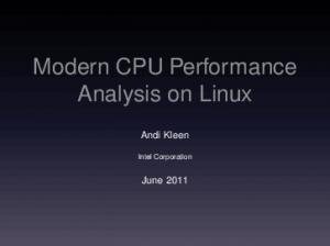 Modern CPU Performance Analysis on Linux