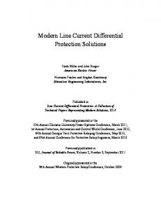 Modern Line Current Differential Protection Solutions
