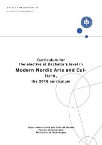 Modern Nordic Arts and Culture,