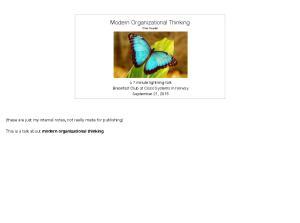 Modern Organizational Thinking Olve Maudal