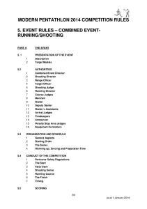MODERN PENTATHLON 2014 COMPETITION RULES