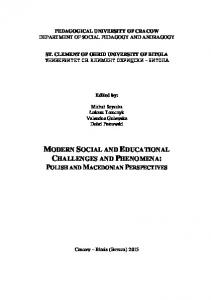 MODERN SOCIAL AND EDUCATIONAL CHALLENGES AND PHENOMENA: POLISH AND MACEDONIAN PERSPECTIVES