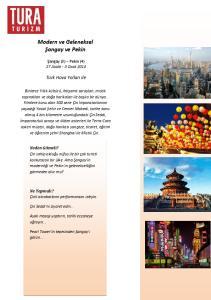 Modern ve Geleneksel Şangay ve Pekin