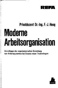 Moderne Arbeitsorganisation