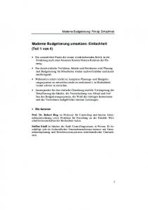 Moderne Budgetierung umsetzen: Einfachheit (Teil 1 von 4)