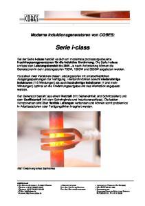 Moderne Induktionsgeneratoren von COBES: Serie i-class