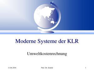 Moderne Systeme der KLR