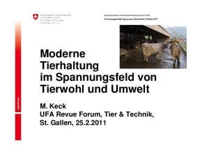 Moderne Tierhaltung im Spannungsfeld von Tierwohl und Umwelt
