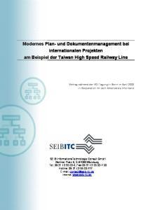 Modernes Plan- und Dokumentenmanagement bei internationalen Projekten am Beispiel der Taiwan High Speed Railway Line
