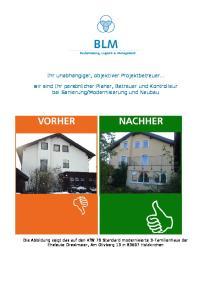 Modernisierung und Neubau