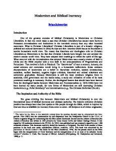 Modernism and Biblical Inerrancy