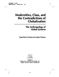 Modernities, Class, and the Contradictions of Globalization