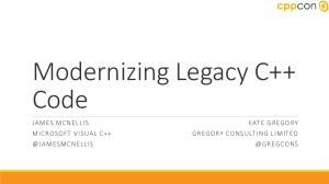 Modernizing Legacy C++ Code