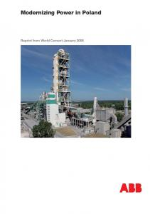 Modernizing Power in Poland. Reprint from World Cement January 2006