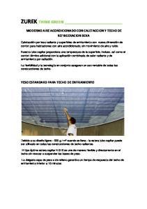MODERNO AIRE ACONDICIONADO CON CALEFACCION Y TECHO DE REFRIGERACION BEKA