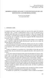 MODIFICACIONES LEGALES Y CONVENCIONALES DE LOS MONTOS DE LAS INDEMNIZACIONES