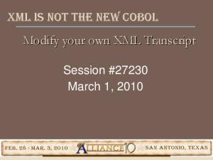 Modify your own XML Transcript