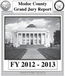 Modoc County Grand Jury Report FY