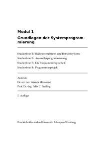 Modul 1 Grundlagen der Systemprogrammierung