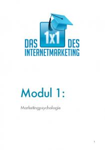 Modul 1: Marketingpsychologie