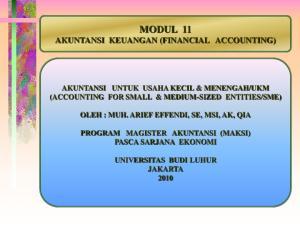 MODUL 11 AKUNTANSI KEUANGAN (FINANCIAL ACCOUNTING)