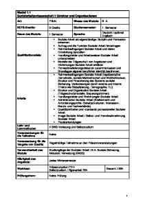 Modul 1.1 Sozialarbeitswissenschaft I: Struktur und Organisationen
