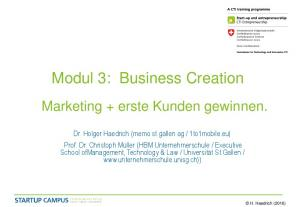 Modul 3: Business Creation