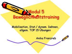 Modul 5 Beweglichkeitstraining