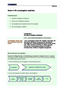 Modul 5: Mit Lernaufgaben ausbilden