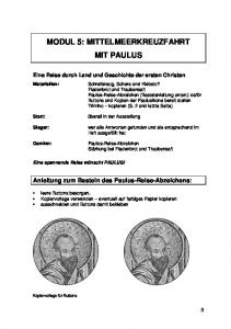 MODUL 5: MITTELMEERKREUZFAHRT MIT PAULUS
