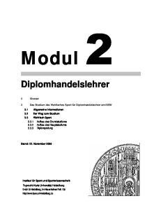 Modul. Diplomhandelslehrer. 2 Glossar