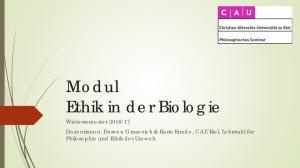 Modul Ethik in der Biologie