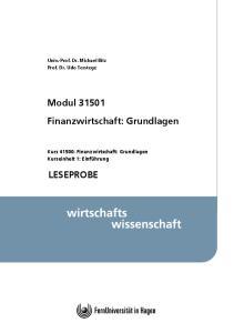 Modul Finanzwirtschaft: Grundlagen