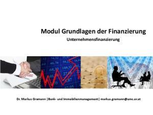 Modul Grundlagen der Finanzierung