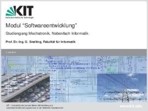 Modul Softwareentwicklung