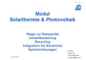 Modul Solarthermie & Photovoltaik