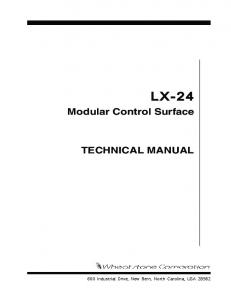 Modular Control Surface TECHNICAL MANUAL