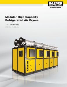 Modular High Capacity Refrigerated Air Dryers