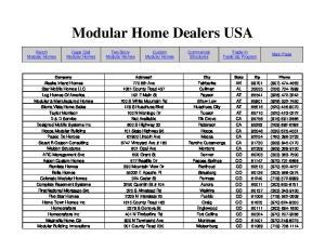 Modular Home Dealers USA