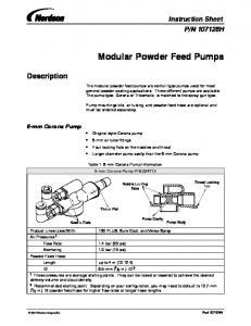 Modular Powder Feed Pumps