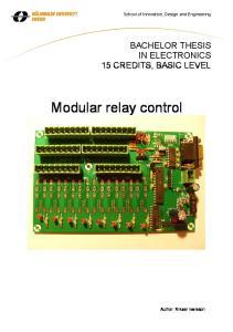 Modular relay control