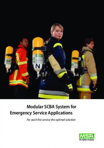 Modular SCBA System for Emergency Service Applications