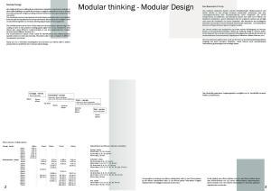 Modular thinking - Modular Design